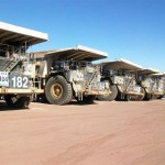 140-tonne Caterpillar dum trucks in Chile