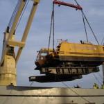 Shipping a 360-tonne barge crane