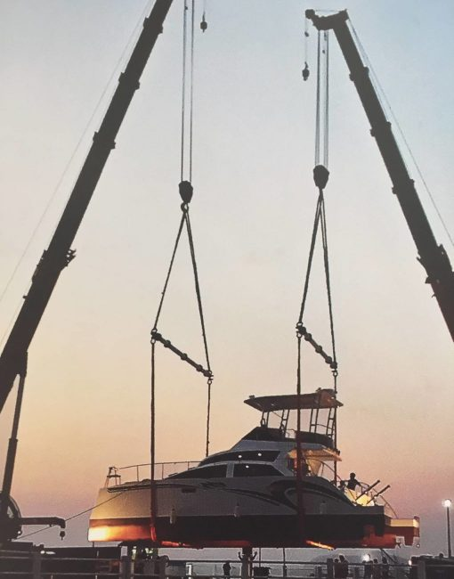 Transporting luxury yacht by sea freight