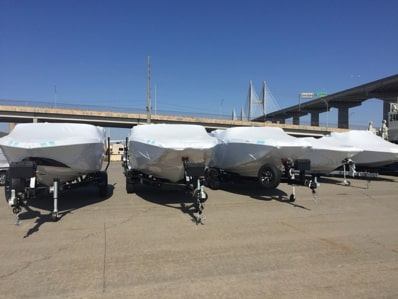 Trailer Boats Ready for Transporting