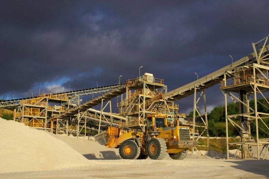 Greenbushes mine near Manjimup processing material