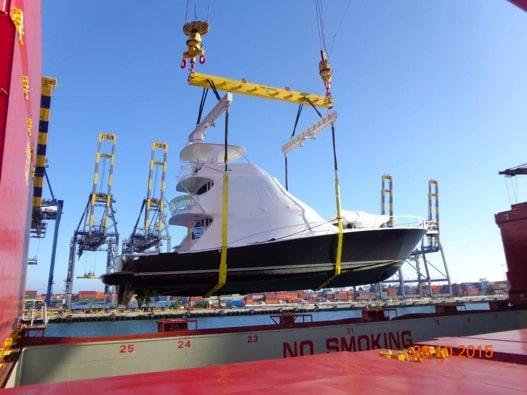 Overseas yacht transport